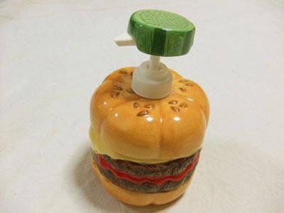 ハンバーガーのソープボトル