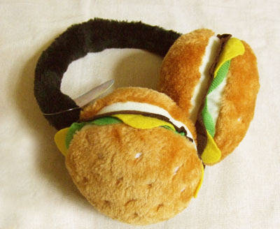 ハンバーガーのイヤーマフ