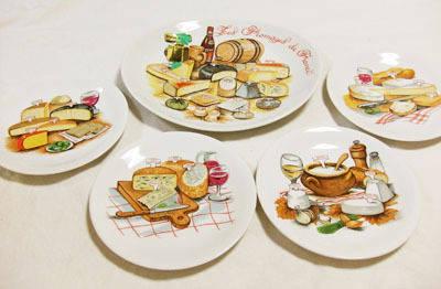 パン柄の飾り皿セット