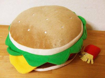 ハンバーガーのリュックサック