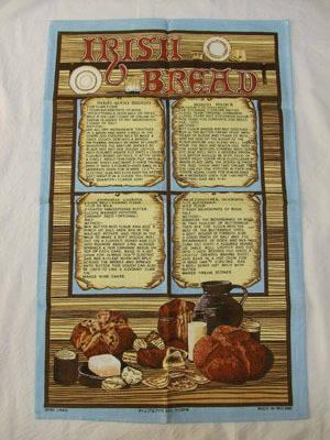 パン柄のティータオル