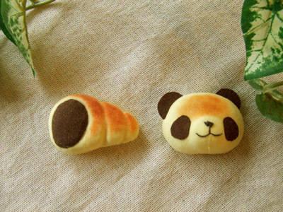 焼きたてパンダのブローチセット/チョココロネ