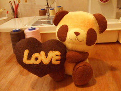 Loveパンちゃんチョコ/焼きたてパンダのぬいぐるみ