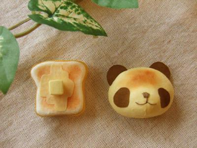 食パン/焼きたてパンダのブローチセット
