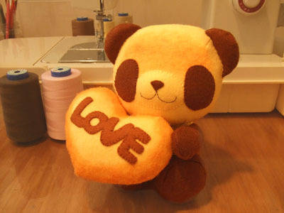 Loveパンちゃん/焼きたてパンダのぬいぐるみ