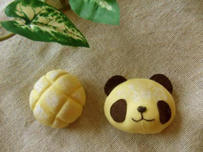 メロンパン/焼きたてパンダのブローチセット
