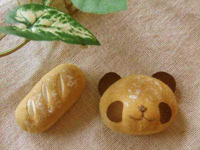 フランスパン/焼きたてパンダのブローチセット