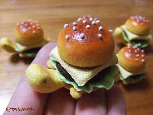 ハンバーガーかめさんのボールチェーン