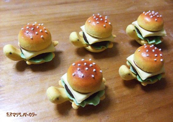 ハンバーガーかめさんのロゼット